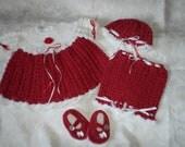 Crimson Beauty 4 Piece Dress Set