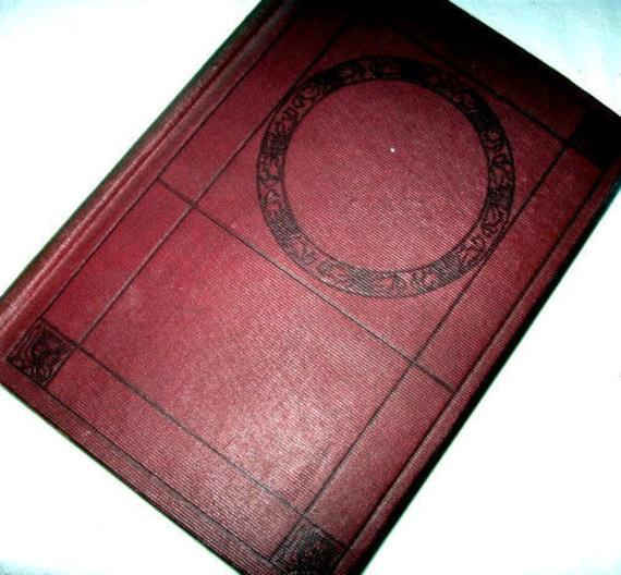 Lovely Antique Book Victorian Covers Cottage Chic Art Nouveau