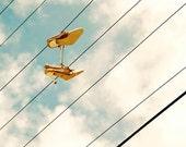 SALE of the Month,  High heels photograph, cloud art, urban street photography, still life photo