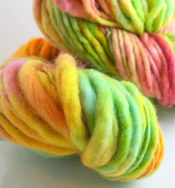 Merino Slub Thick Thin handspun Ganymede bulky soft