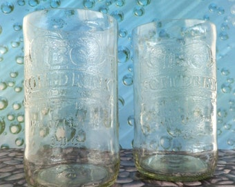 IBC Cream Soda Bottle Tumblers Drinking Glasses Set of 2