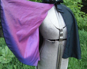 Vintage 1800's Victorian CAPE FABULOUS and Gorgeous S-XL Vibrant Purple Lining