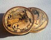 Coasters, Wood Coasters, Rustic Coasters, Rustic Decor