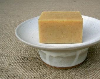 Soap Dish- Rustic Cream
