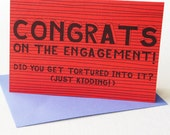 Congrats on the engagement card