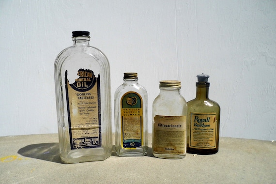 Vintage Bottles, Antique Bottles, Medicine Bottles, Art Deco Glass, Pharmacy Bottles