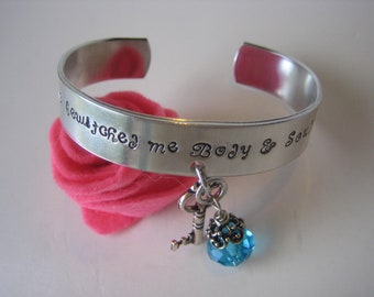Pride and Prejudice -  Metal Stamped Cuff Aluminum Bracelet - You have bewitched me body and soul - Jane Austen - Mr Darcy - Darcy Proposal
