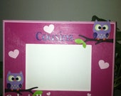 Custom Hand Painted Owl Picture Frame-Cousins