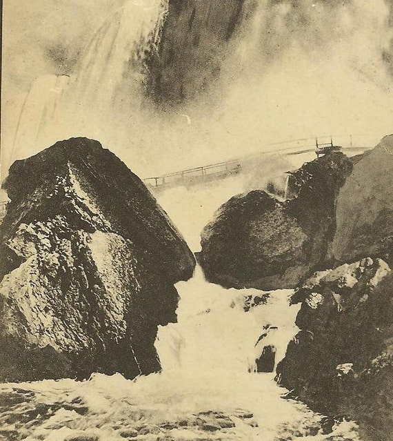 NIAGARA FALLS Rock of Ages Heraldic Vintage Postcard Rumsey and Co