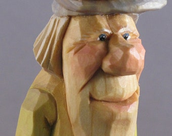 golf golfer statue caricature sports wood carving