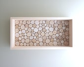 white birch forest wood grain shelf - made to order