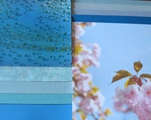15 sheets of 12 x 12 inch paper Blue Skies Flowers Balloons Rain Drops
