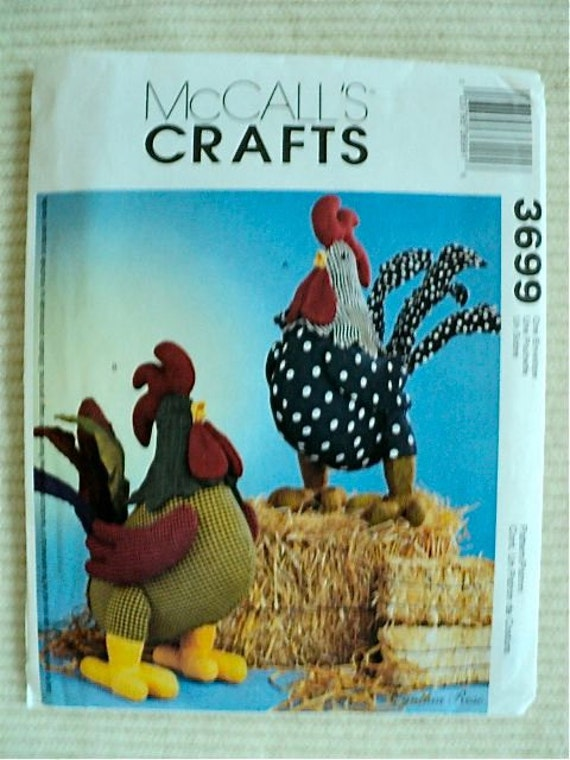 Rooster Dolls Sewing Pattern Mccall S Crafts No 3699