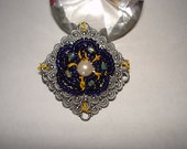 Beaded Flower Brooch Free Shipping in USA