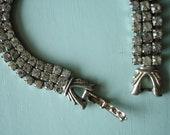 Vintage Rhinestone Glamour Bracelet 1940