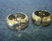Vintage Clip On Hoop Earrings