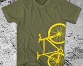 Fixie Bike T-Shirt Fixed Gear Bicycle Free Ship