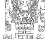 Viracocha - Line Art Print