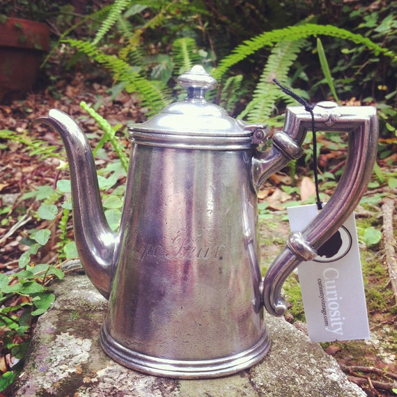 Vintage Silver Plate Teapot from Cape Fear Hotel