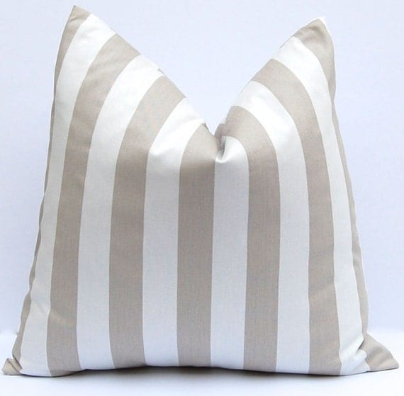 Throw Pillow Euro Sham : Items similar to Euro Sham One Decorative throw pillow covers 24 x 24 Inches Taupe and White ...