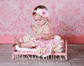 Pink and Ivory 2-Tier PomPom TuTu  - Npictures Boutique