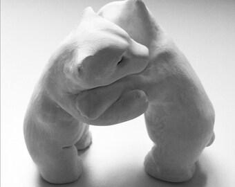 Polar Bear Love wedding cake topper