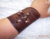 Xena Brown Leather Wild Bracelet