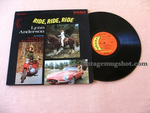 Lynne Anderson  vintage 1st vinyl  Ride Ride Ride  Chart Records