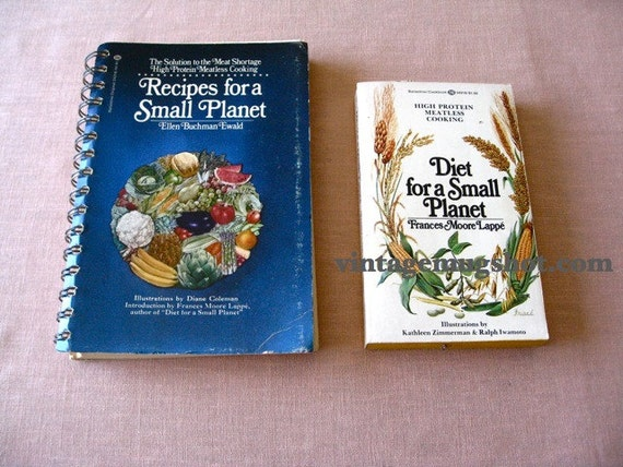 Diet and Recipes for A Small Planet  Two Books 1974 Vegetarian