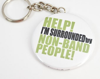 Funny Band Geek Keychain - 2.25 inch button style