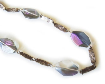Iridescent Purple Crystal Necklace