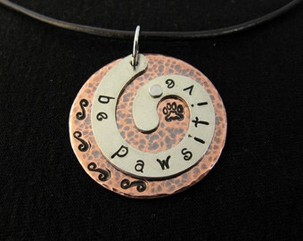 Be Pawsitive Tripawd Charm in Copper and Silver Nickel