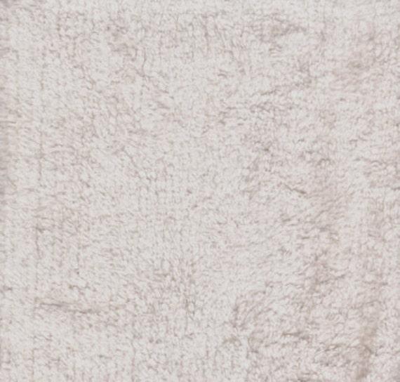 Ecru Terry Cloth Fabric   1 yard