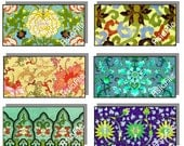 Printable Digital Art, Asian Art, Collage Sheet, Horizontal Images, Chinese Designs,  for Pendants 1 x 2 Dominoes Tiles Beadmaking CS 272