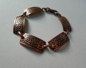 Copper Bracelet Copper Tribal Ethnic 70s Jewelry Christmas Sale