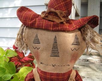 Handmade Primitive Scarecrow