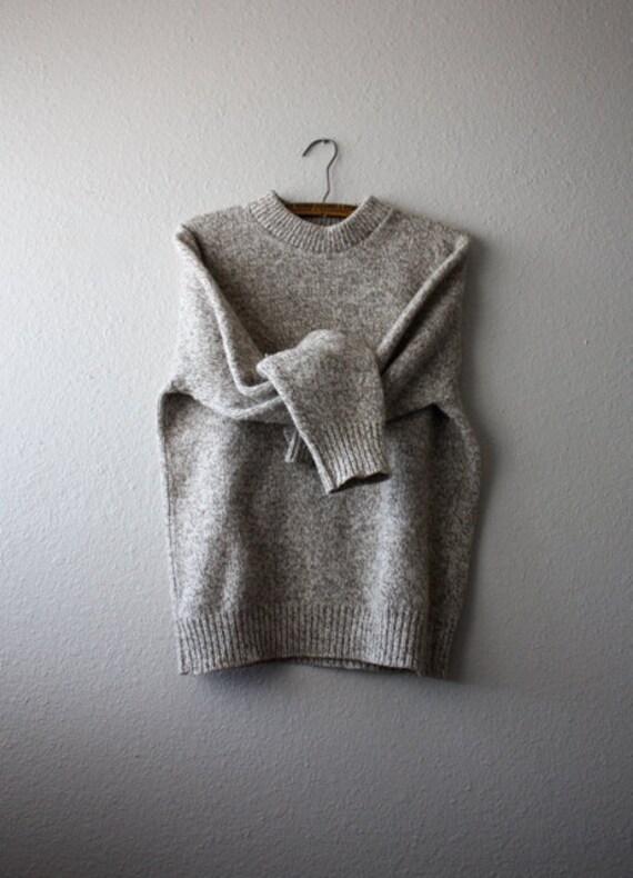 Vintage Men's OATMEAL Wool Knit Sweater