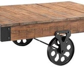 Industrial Cart (Coffee Table) to be customized with Union Jack
