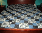 Twin Blue Camo Quilt