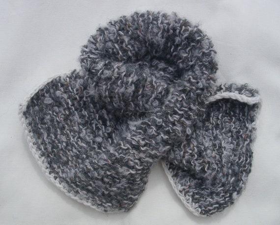 Child's scarflette/mini scarf hand knitted in soft alpaca rich yarn