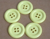 Lot of 5 Buttons - 1.5 inch Pale Yellow
