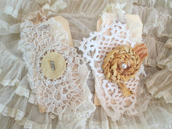 lace encrusted tags