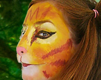 Cat Kitty Cosplay LARP Halloween Costume Latex Prosthetic Face Nose Mask