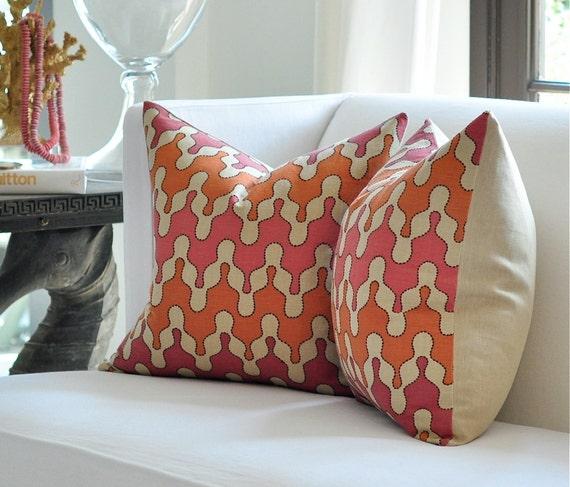 "20""sq. Vervain ISHTAR pillow cover in Cinnabar"