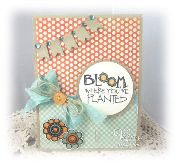 Bloom Handmade Blank Greeting Card