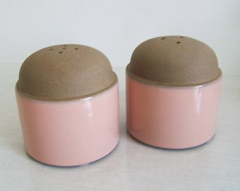 Vintage Midwinter Coral Sand Salt and Pepper Shakers