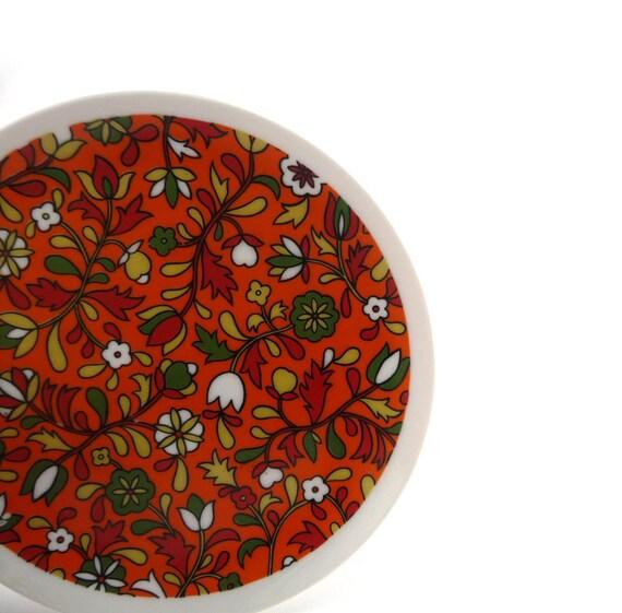 Vintage Holt Howard orange plate
