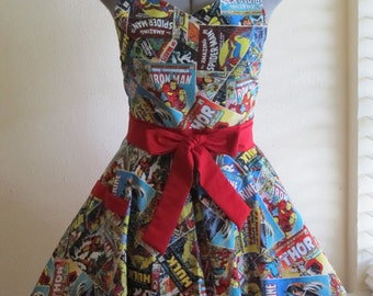 Sweetheart Hostess Apron - Marvel Comics- with a hint of Red