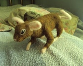Sale  brown rat mouse needle felted pet  posable art doll animal