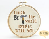 Oldboy Cross Stitch Pattern - Laugh & The World Laughs With You - Geek Cross Stitch Pattern